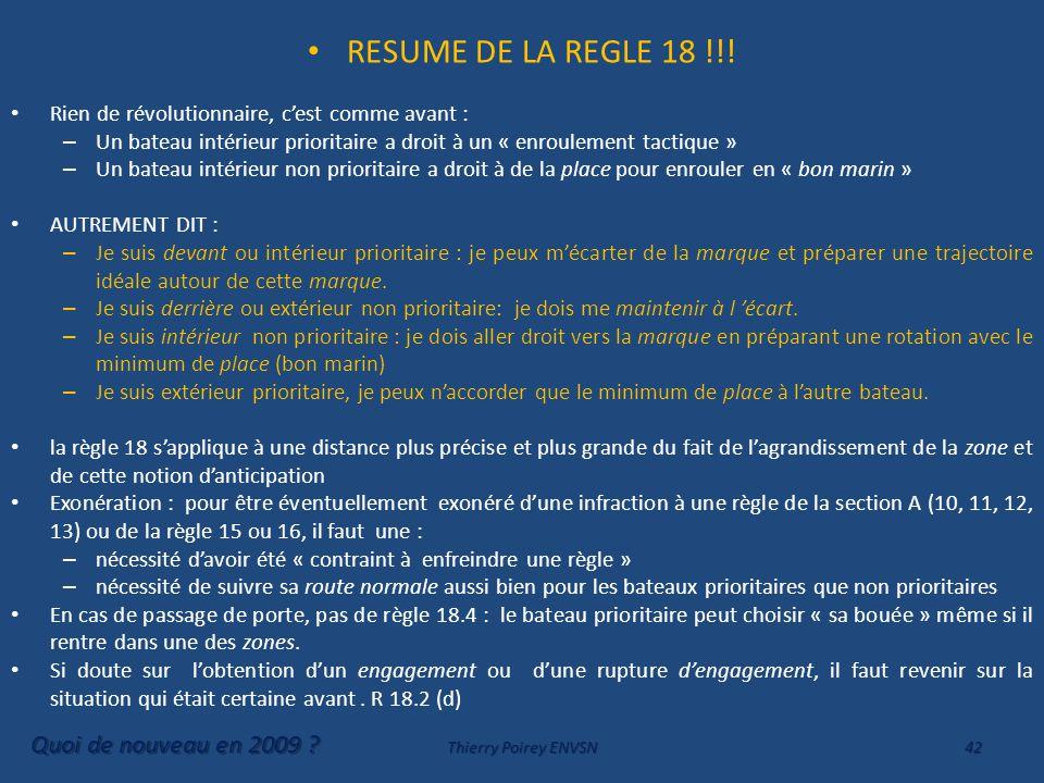 RESUME DE LA REGLE 18 !!.