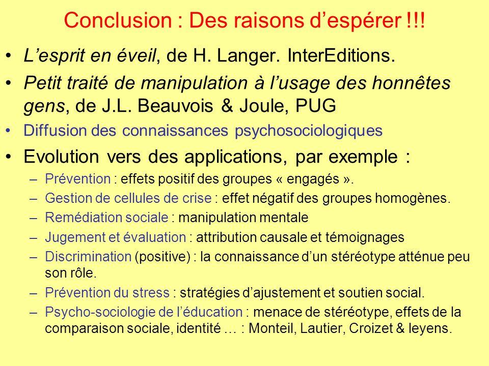 """Pr�sentation """"La psychologie sociale : Pr�sentation partiale et ..."""