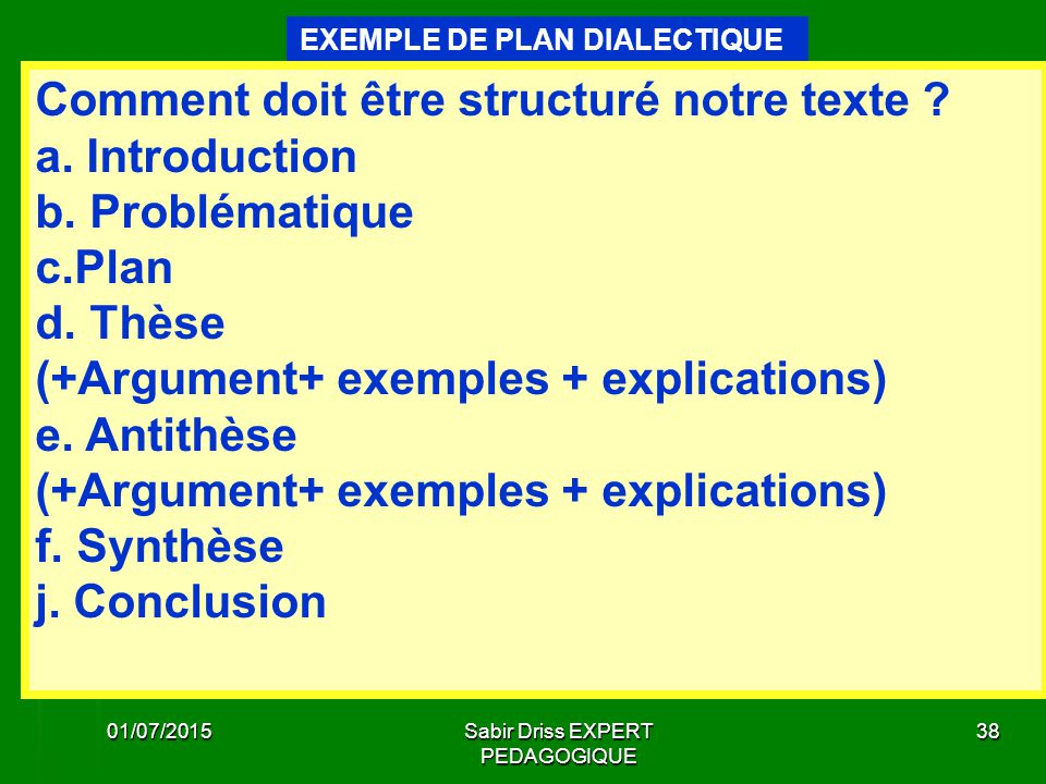 Dissertation Dialectique Transition