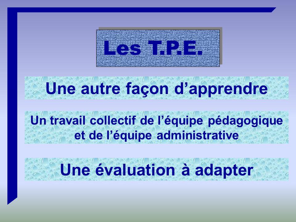 Les T.P.E.