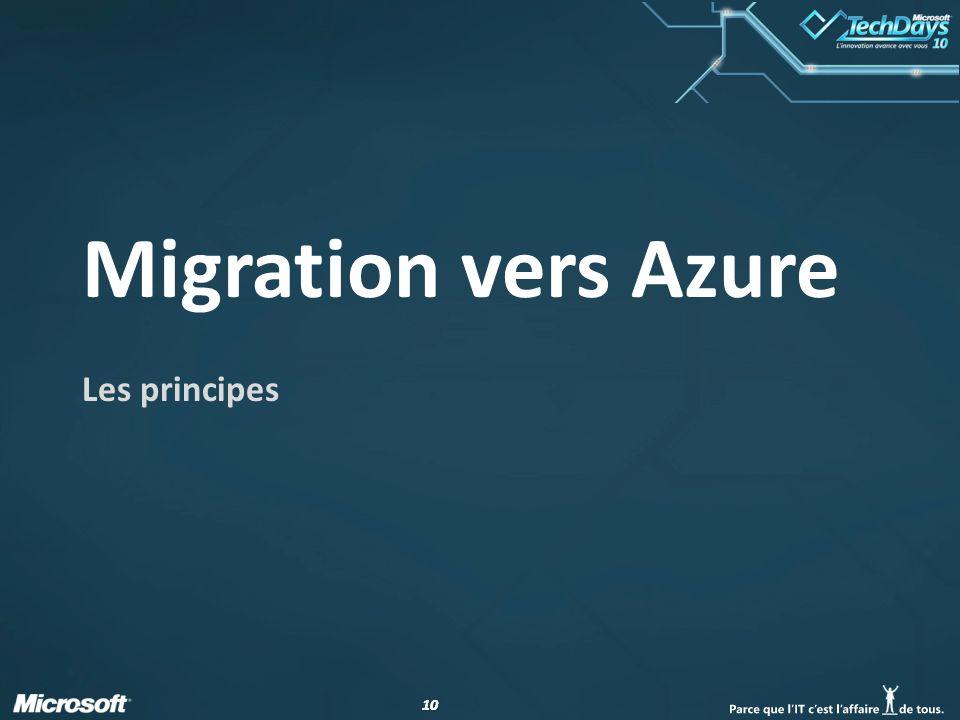 10 Migration vers Azure Les principes