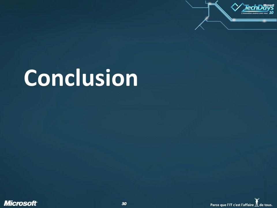 30 Conclusion