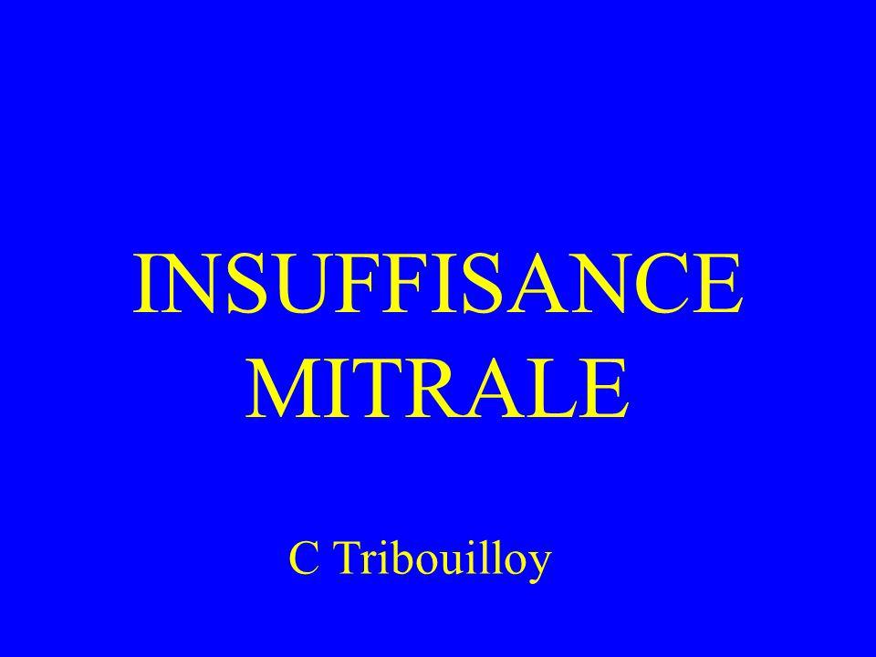 INSUFFISANCE MITRALE C Tribouilloy