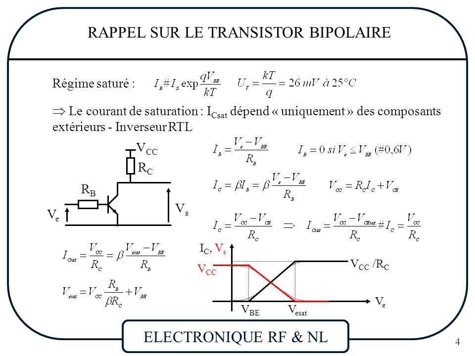 Transistor bipolaire fonctionnement