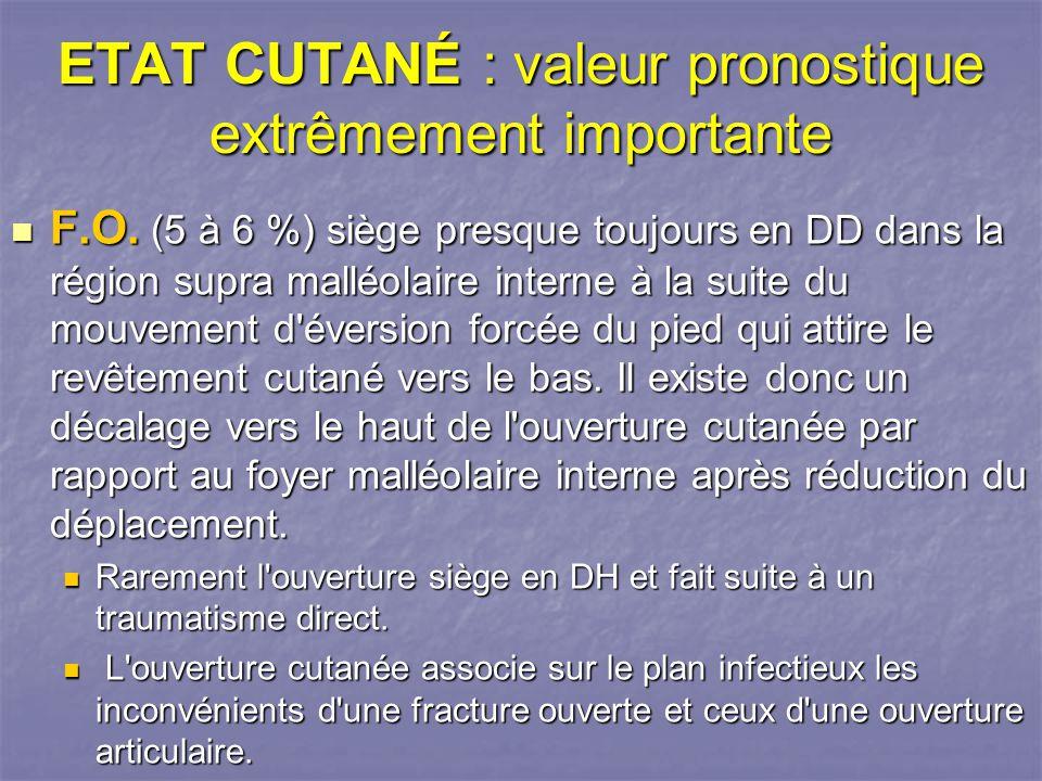 ETAT CUTANÉ : valeur pronostique extrêmement importante F.O.