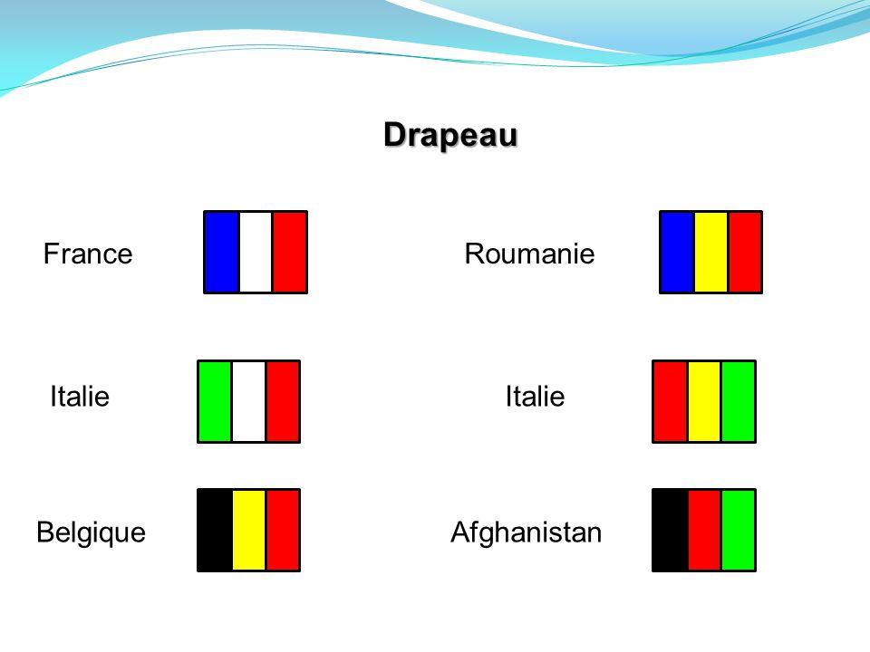 Drapeau France Italie Belgique Roumanie Italie Afghanistan