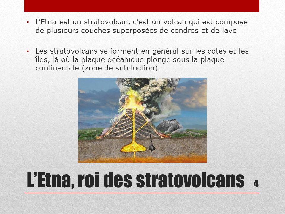 L'Etna, roi des stratovolcans Sur les flancs de l'Etna, on compte 250 cônes volcaniques 5 L'Etna est toujours en activité.