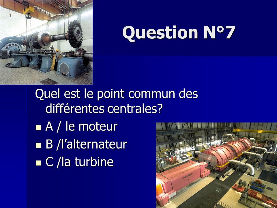 Question N°8 Ce point commun permet de transformer A / l'énergie mécanique en énergie électrique A / l'énergie mécanique en énergie électrique B /l'énergie électrique en énergie mécanique B /l'énergie électrique en énergie mécanique C/ l'énergie électrique en énergie électrique C/ l'énergie électrique en énergie électrique
