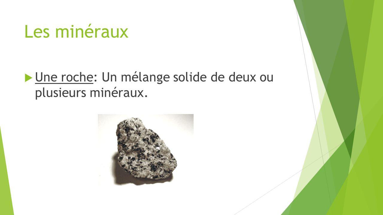 Les minéraux vs.