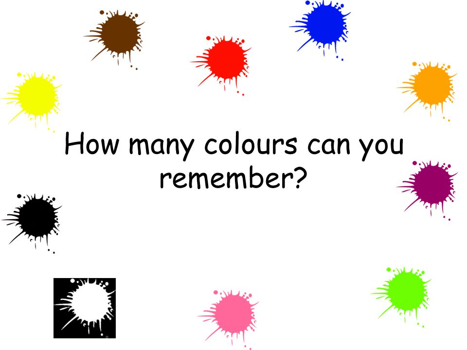 How many colours can you remember