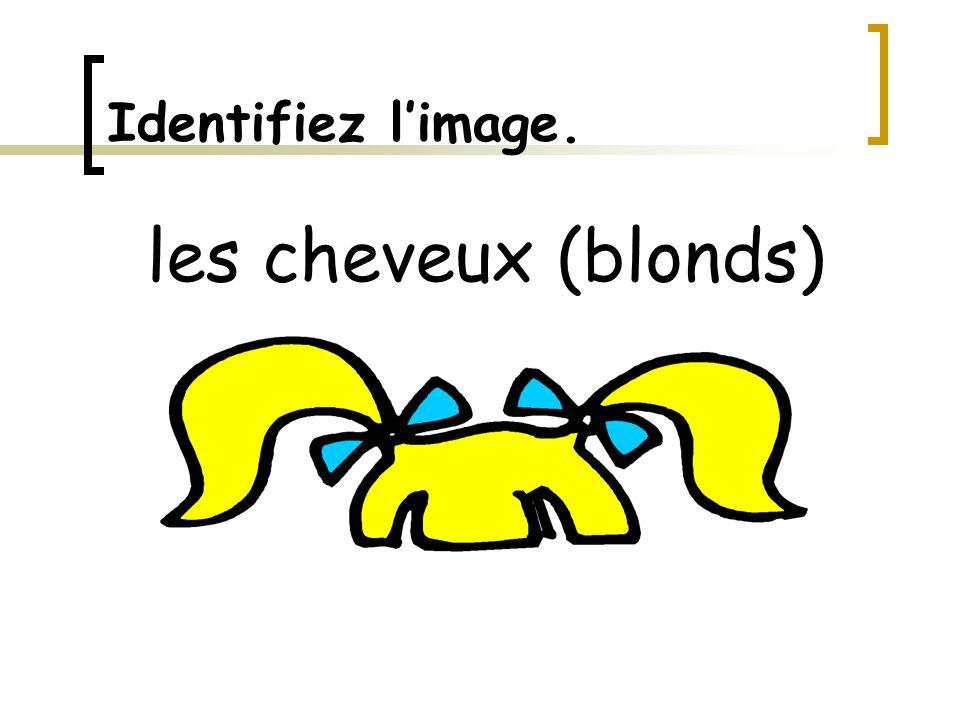 Identifiez l'image. les cheveux (blonds)