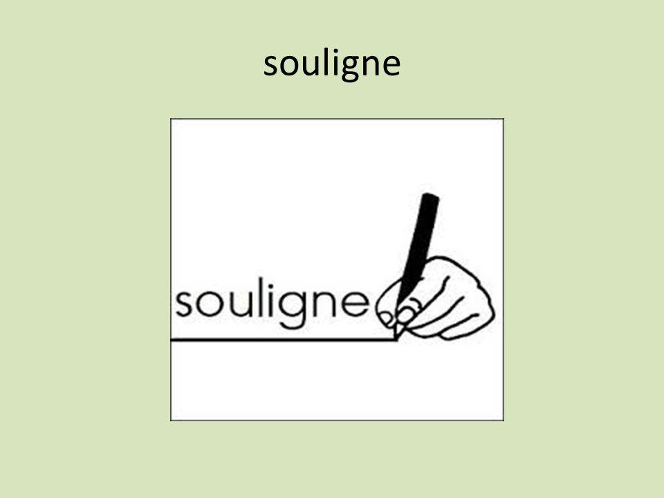 souligne