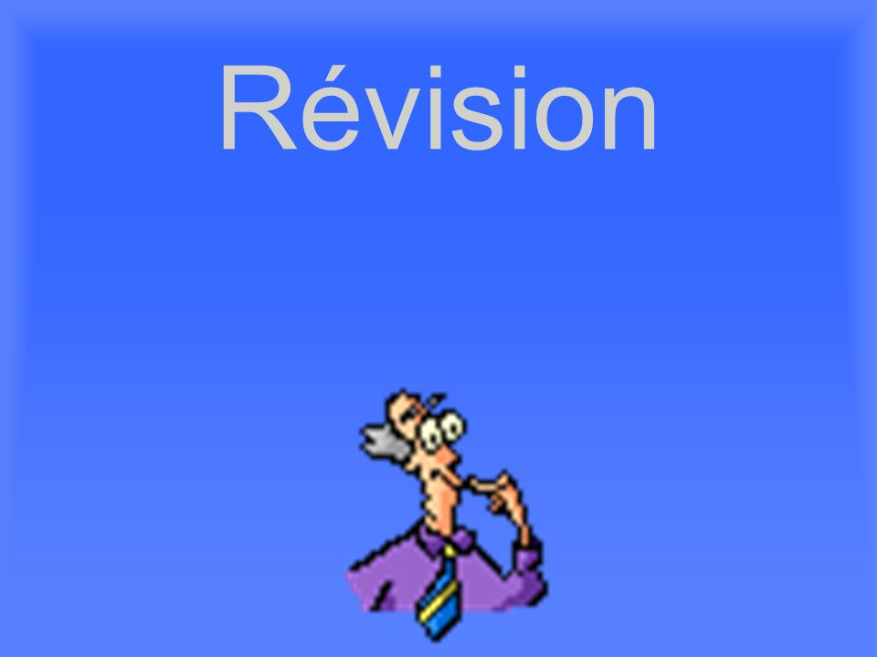Révision