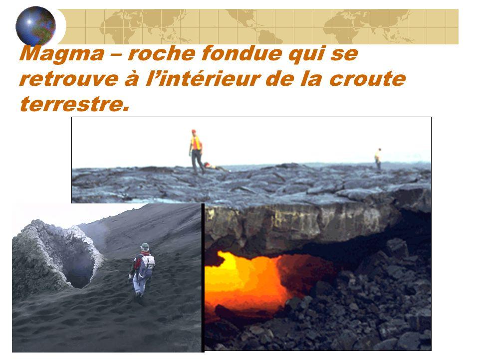 Magma Lave Échantillon