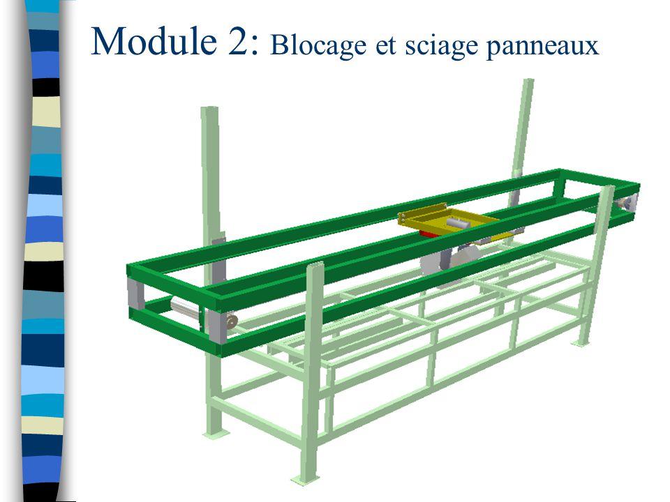Module 2: Blocage et sciage panneaux