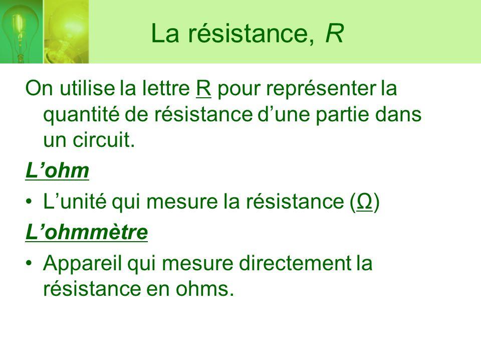 Unité de résistance 3 lettres