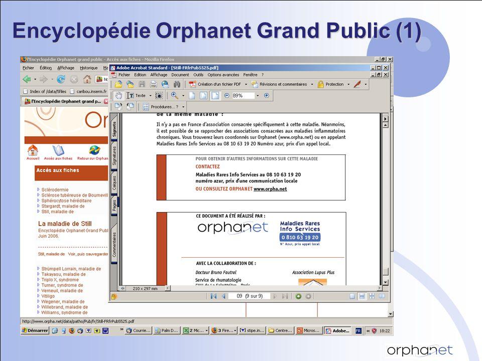 encyclopedie orphanet grand public