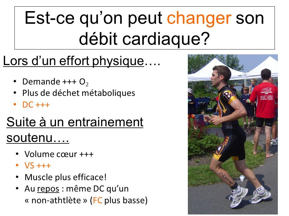 Est-ce qu'on peut changer son débit cardiaque.Lors d'un effort physique….