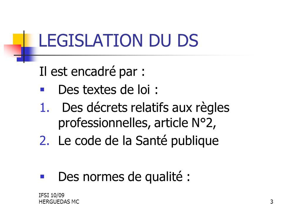 Transmissions infirmières législation
