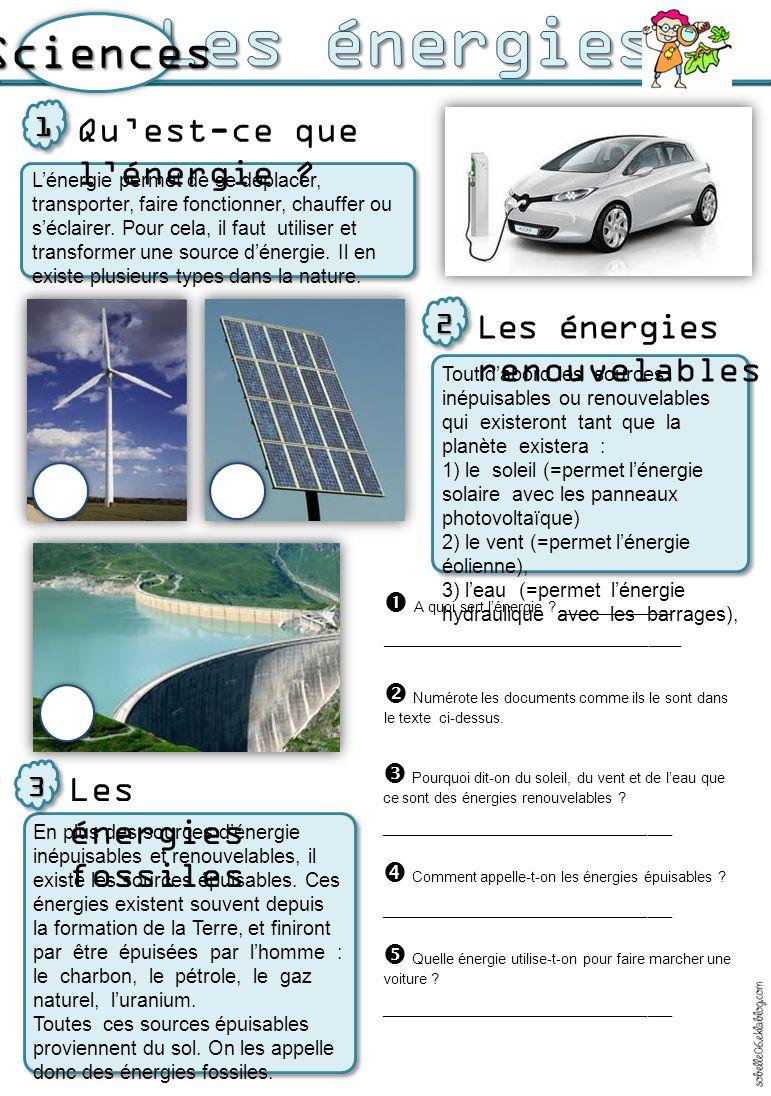 o La fourniture d un kWh d électricité par EDF en 2012 a induit :  l émission de 50,0 grammes de dioxyde de carbone (CO 2 ) o La génération de déchets radioactifs : * vie courte : 9,4 mg/kWh * vie longue : 0,9 mg/kWh Avantages et inconvénients de toutes ces énergies 4 L'utilisation des énergies fossiles (ou épuisables) comme le charbon, le pétrole ou le gaz, produit beaucoup de pollution dans l'air que l'on respire car la production d'électricité rejette de la vapeur d'eau et du dioxyde de carbone qu'on appelle aussi CO2.