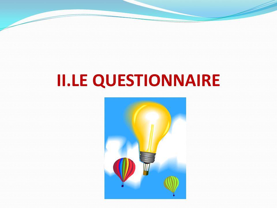 II.LE QUESTIONNAIRE