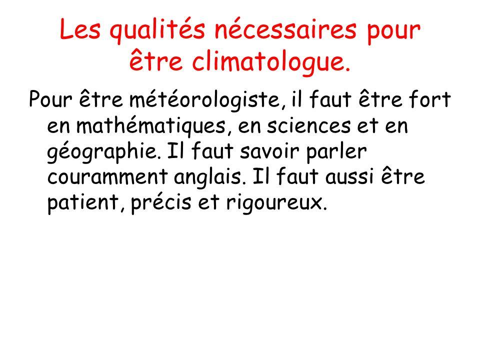 """Pr�sentation """"Le m�t�orologiste et le climatologue. On va ..."""