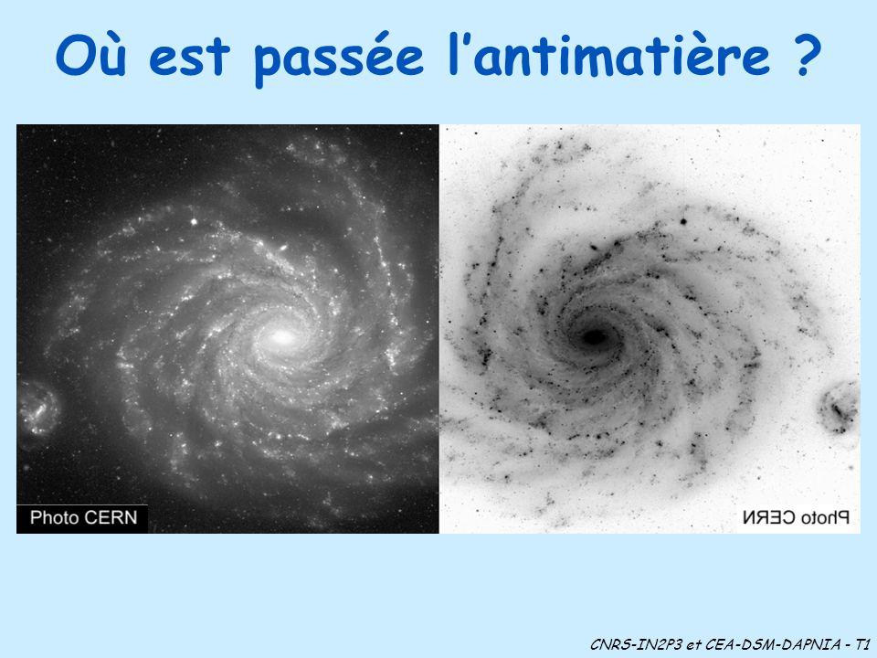 Où est passée lantimatière ? CNRS-IN2P3 et CEA-DSM-DAPNIA - T1