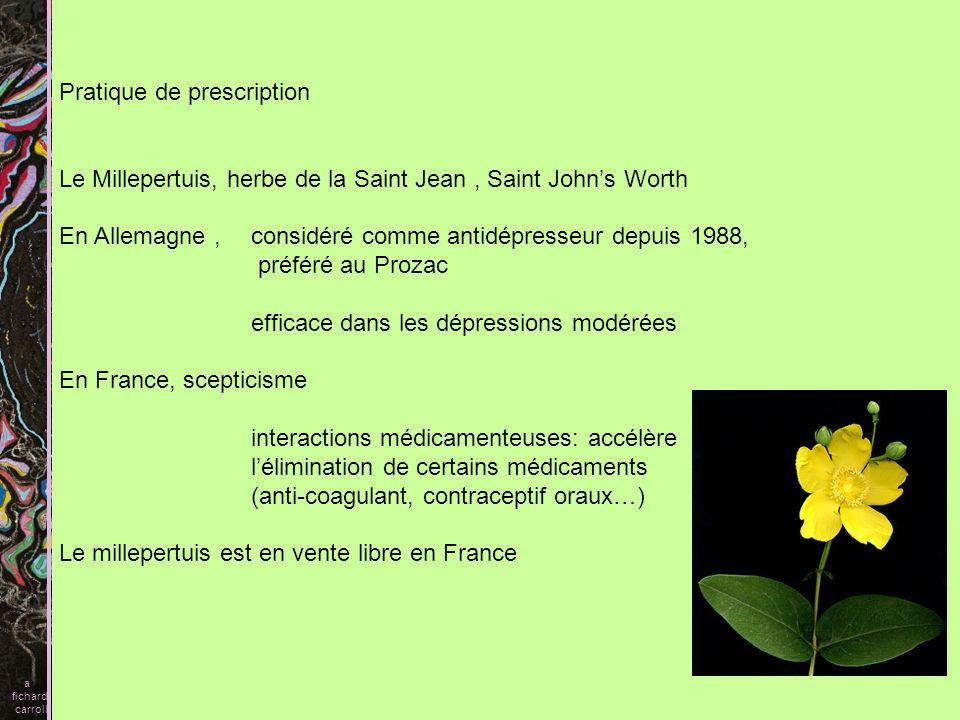 Pratique de prescription Le Millepertuis, herbe de la Saint Jean, Saint Johns Worth En Allemagne, considéré comme antidépresseur depuis 1988, préféré
