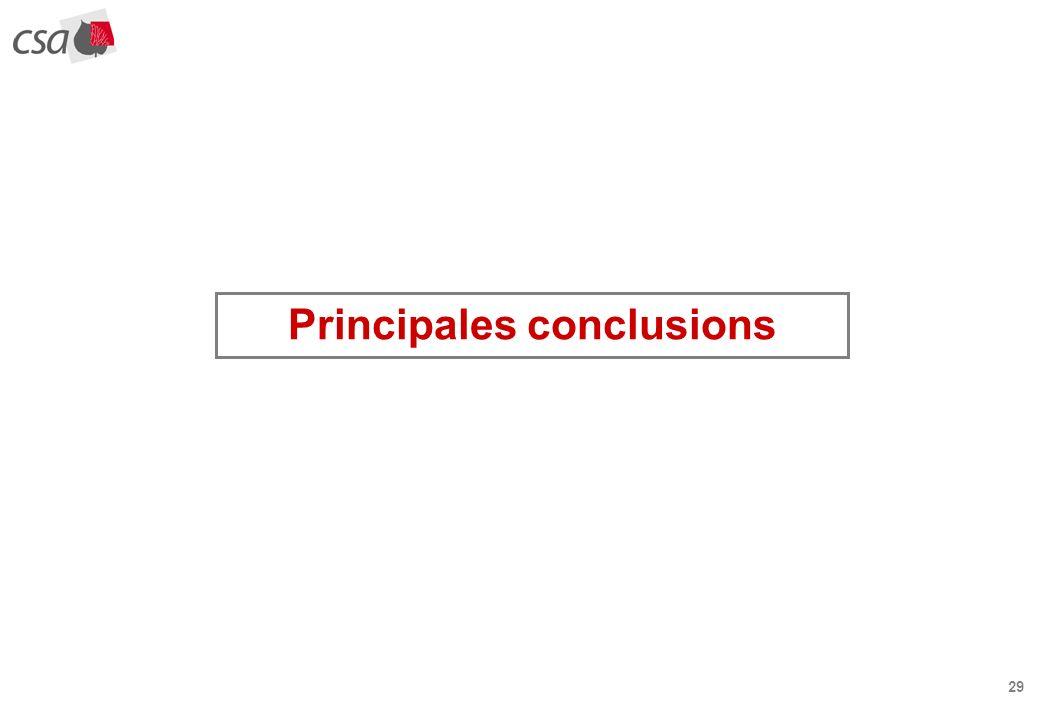 29 Principales conclusions