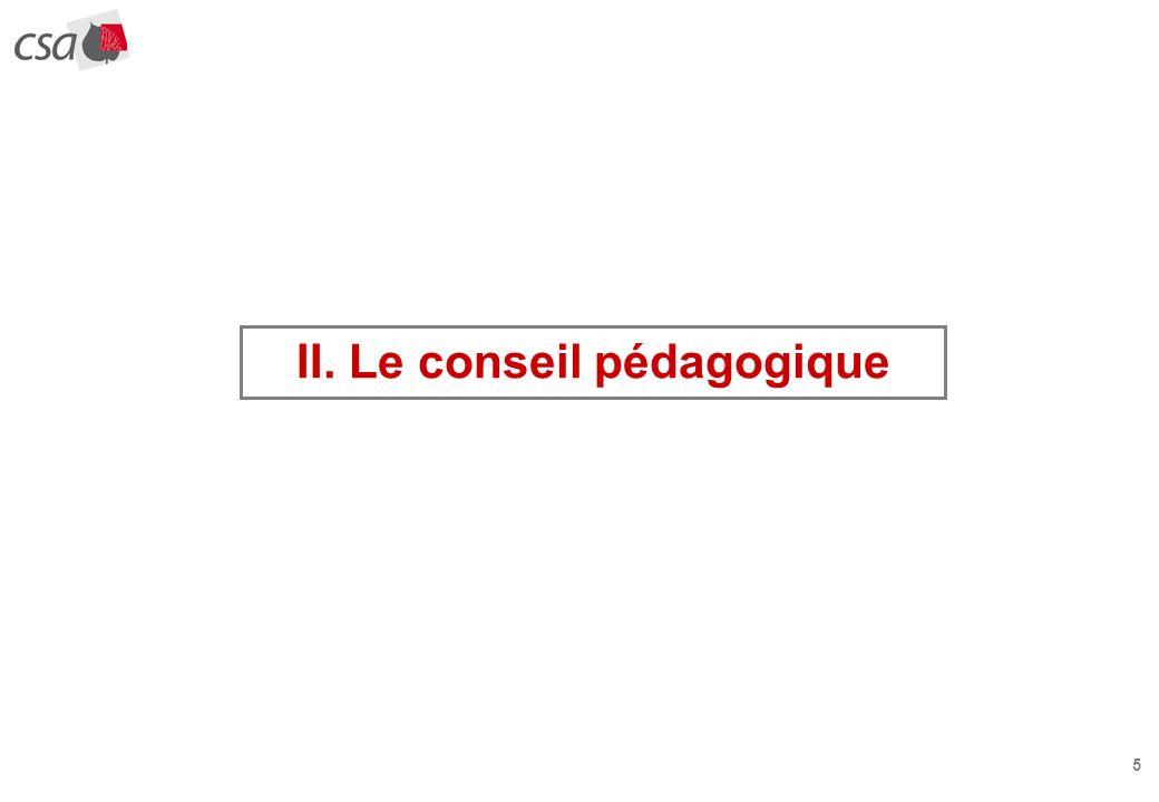 5 II. Le conseil pédagogique