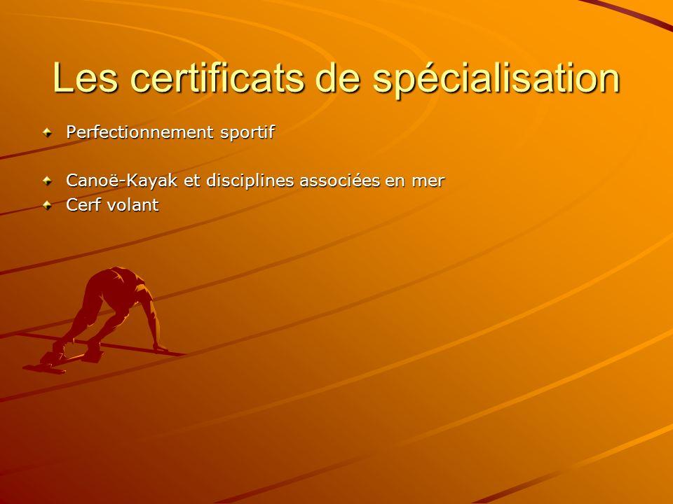 Les certificats de spécialisation Perfectionnement sportif Canoë-Kayak et disciplines associées en mer Cerf volant