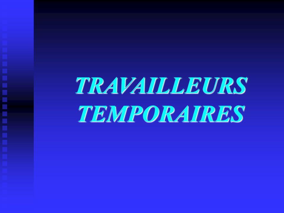 TRAVAILLEURS TEMPORAIRES