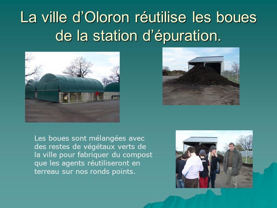 La ville dOloron réutilise les boues de la station dépuration.