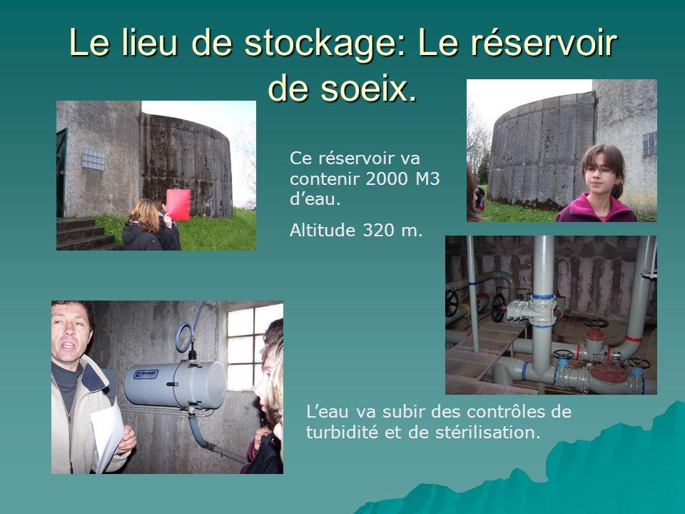 Le lieu de stockage: Le réservoir de soeix.Ce réservoir va contenir 2000 M3 deau.