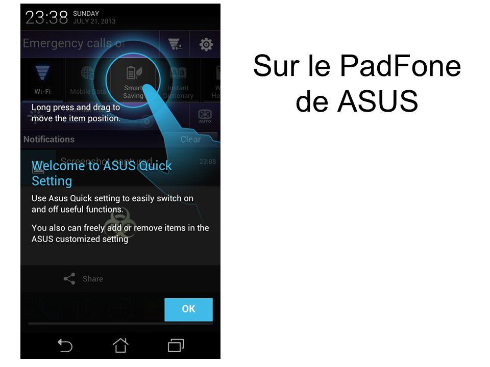 Sur le PadFone de ASUS