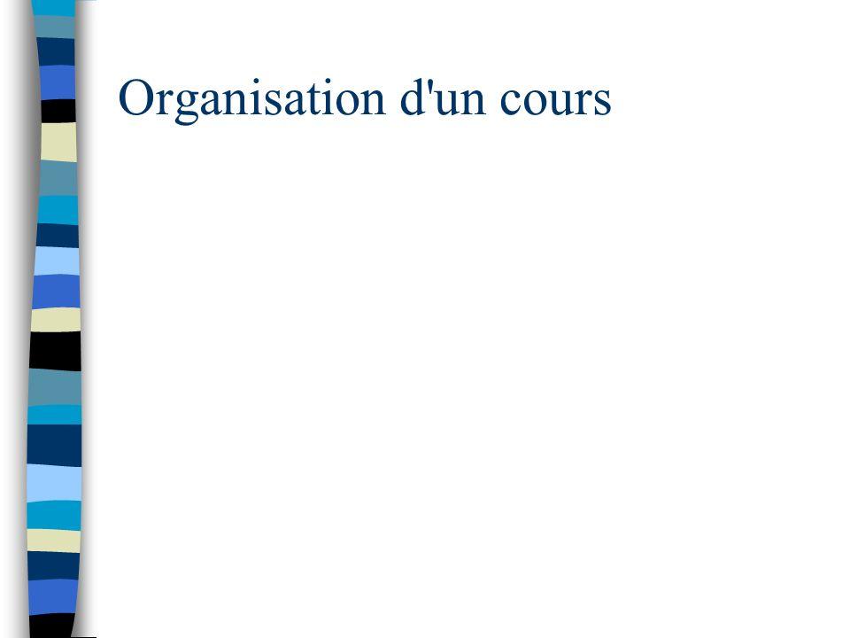 Organisation d'un cours