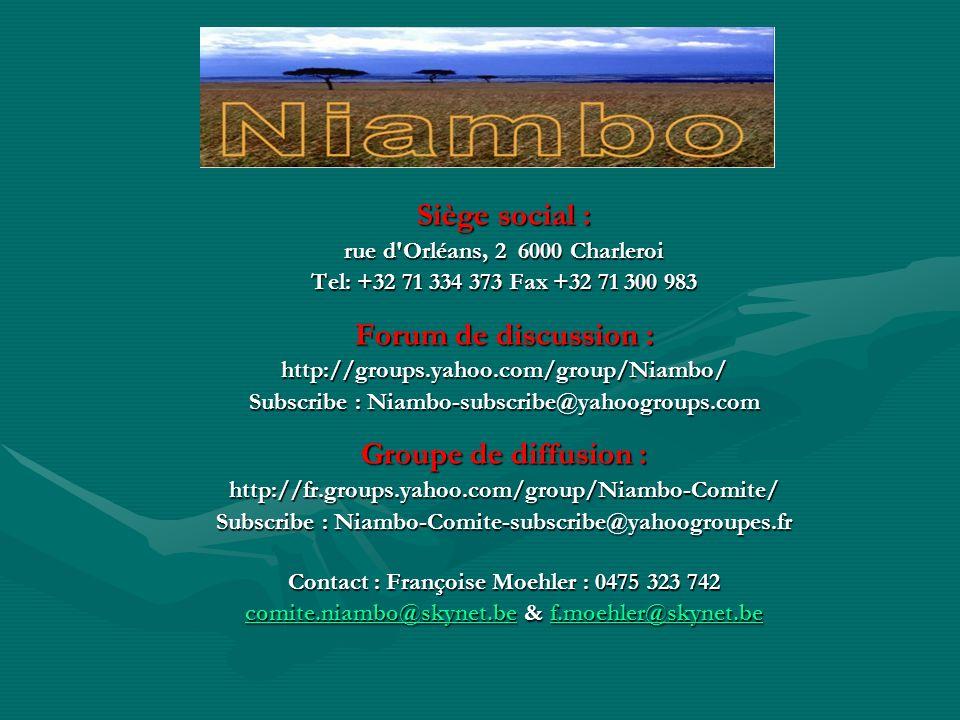 Niambo est une fratrie qui unit par des liens damitié et de solidarité des personnes qualifiées et représentatives ayant, ayant eu ou espérant avoir un lien avec lAfrique Noire, en leur donnant loccasion de servir, en toute circonstance, lintérêt général.