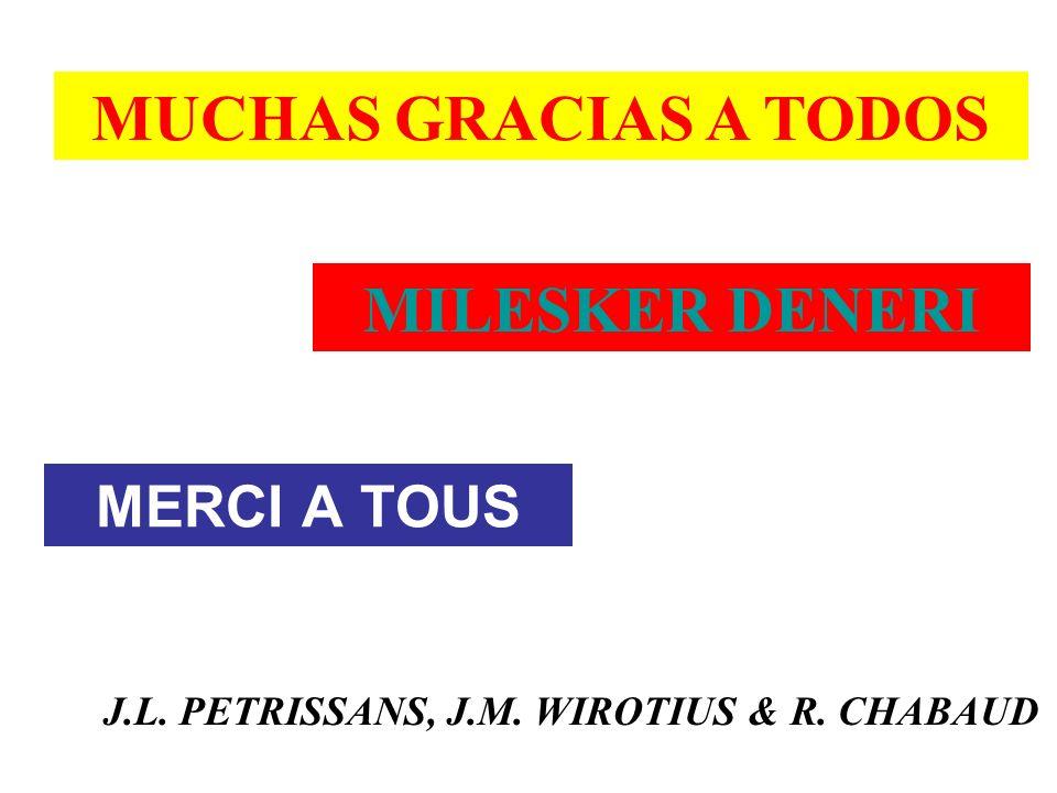 MERCI A TOUS MILESKER DENERI MUCHAS GRACIAS A TODOS J.L. PETRISSANS, J.M. WIROTIUS & R. CHABAUD