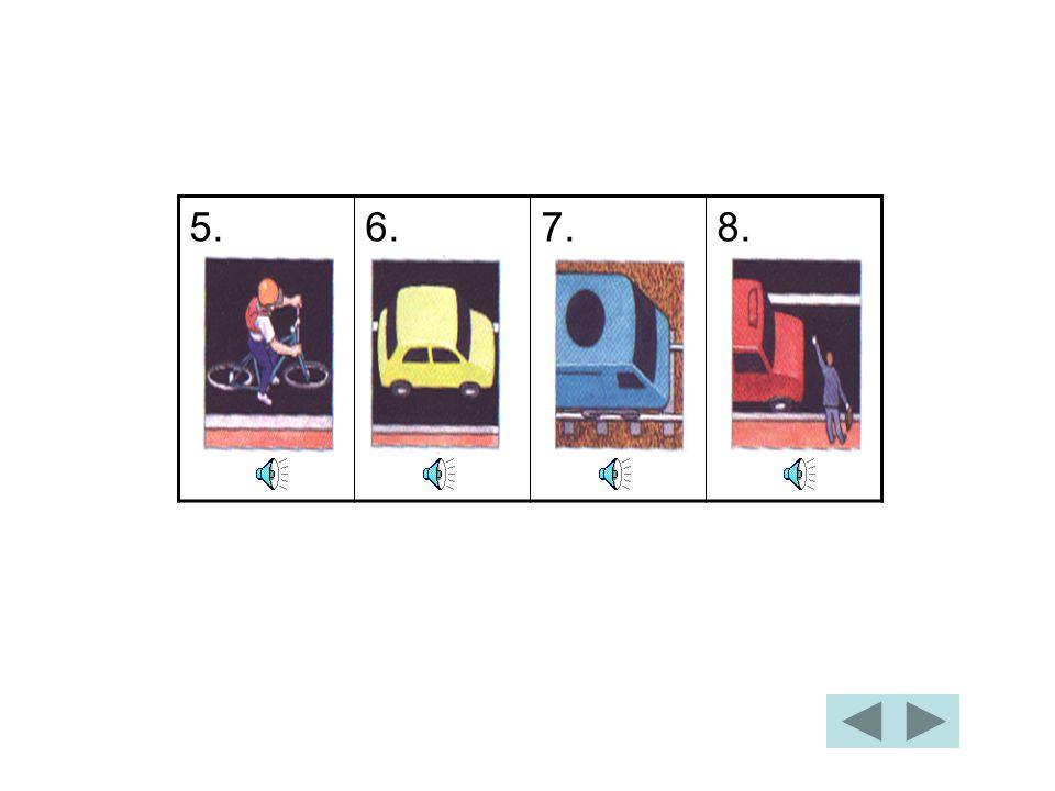 On y va à pied On y va en bus On y va en scooter On y va en tramway Relie les images avec les phrases: 1. 2. 3. 4. Vérifie les réponses.