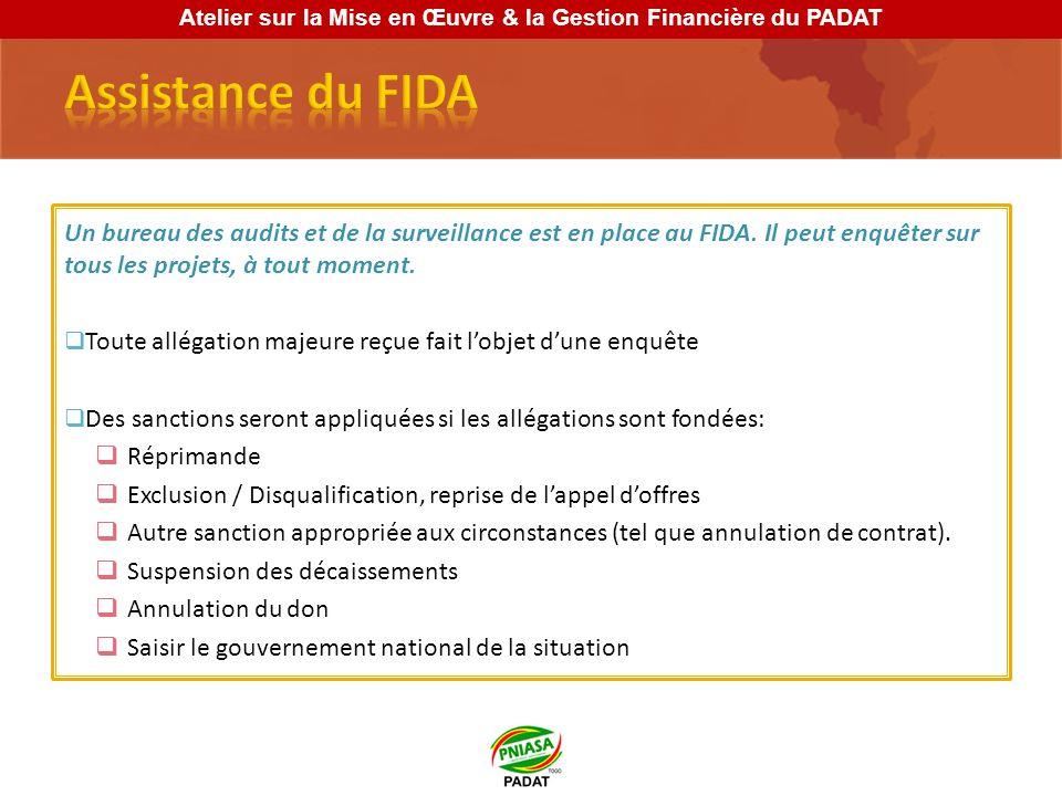 Un bureau des audits et de la surveillance est en place au FIDA.