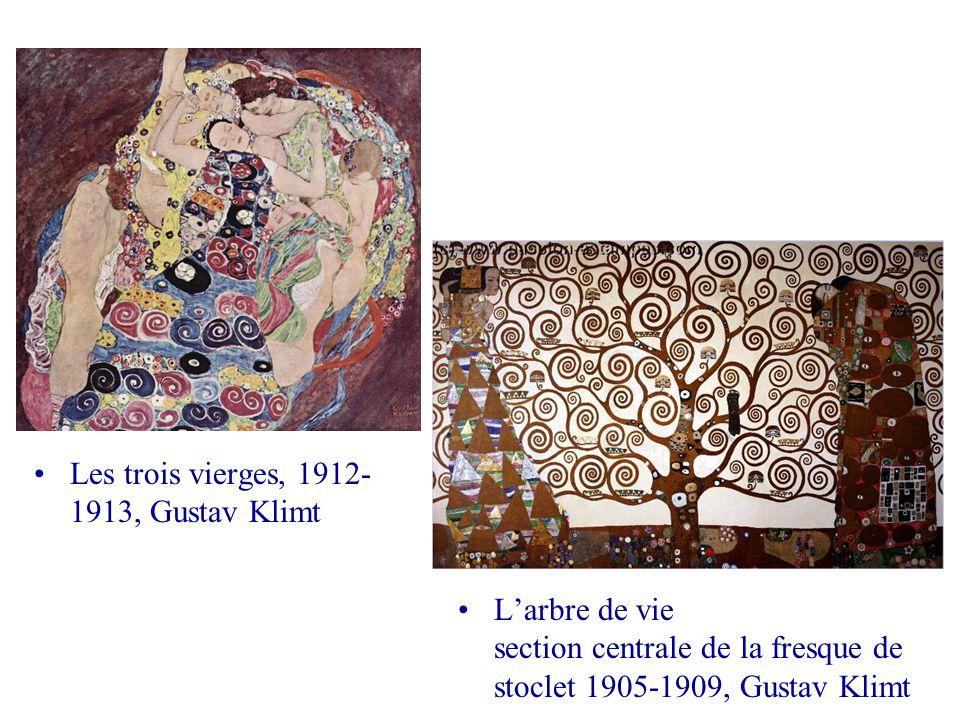 Les trois vierges, 1912- 1913, Gustav Klimt Larbre de vie section centrale de la fresque de stoclet 1905-1909, Gustav Klimt