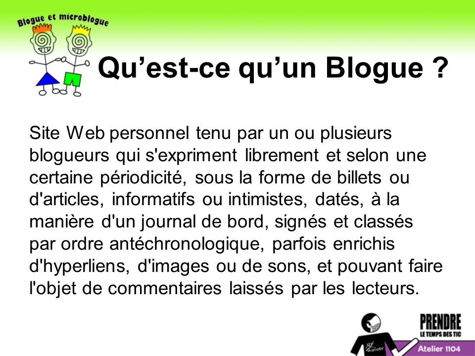 Quest-ce quun Blogue .