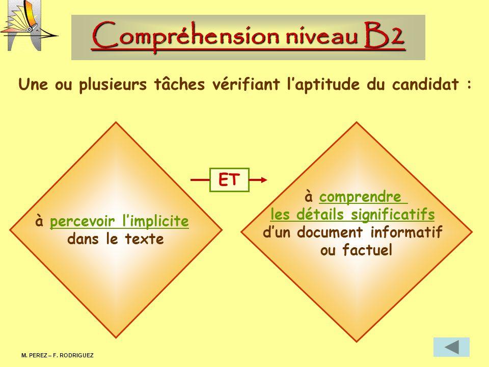 Lexpression écrite niveau B1 M.PEREZ – F.