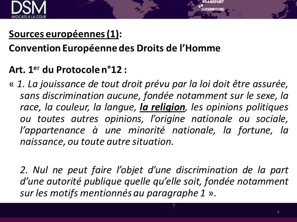 Religion et juridictions 1.
