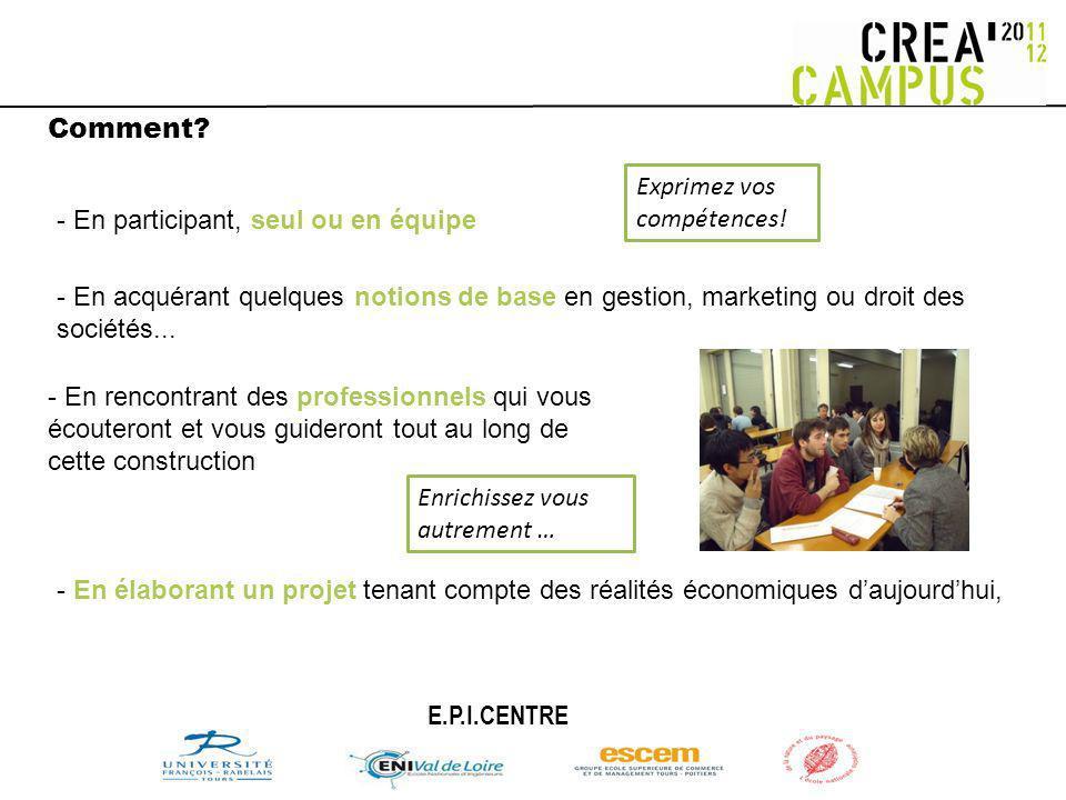 Comment.-En présentant votre projet devant un jury si vous êtes « finalistes »...