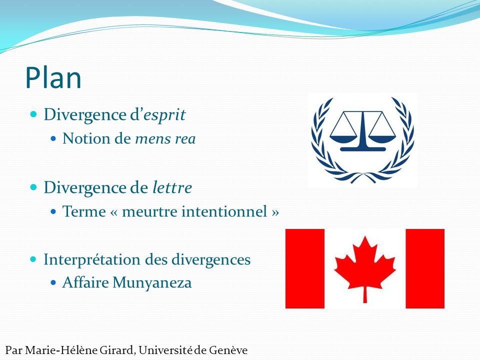 1.Esprit du droit Crimes Against Humanity and War Crimes Act (S.C.