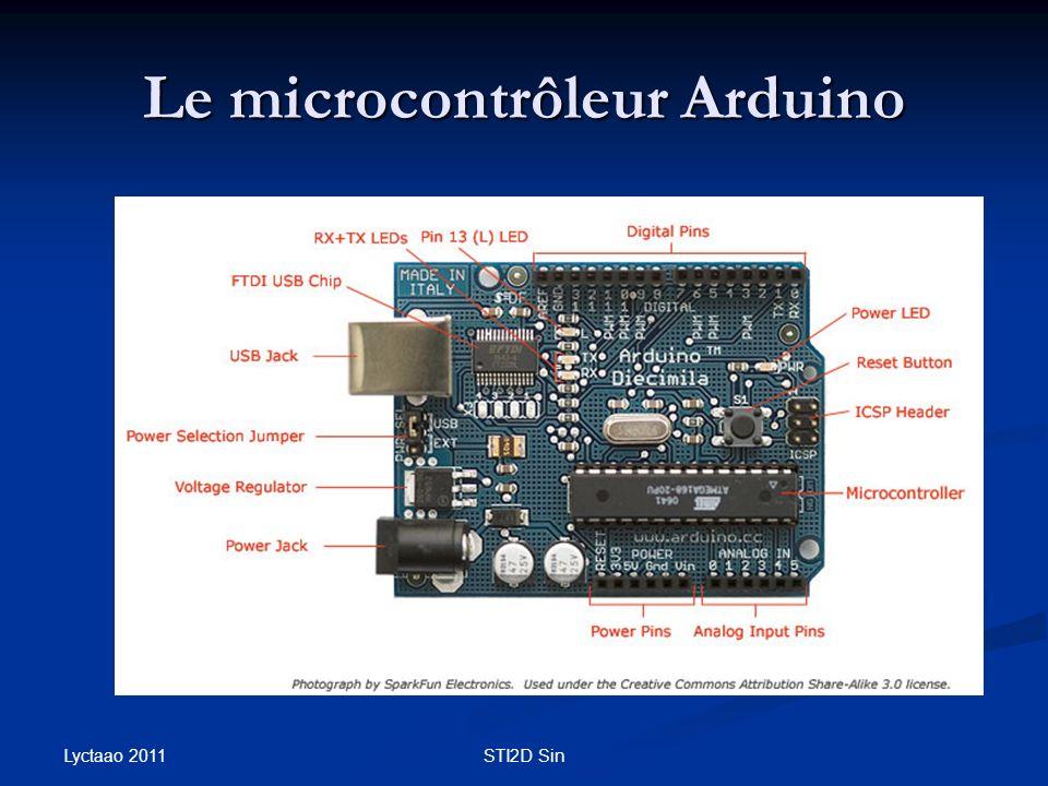 Le microcontrôleur Arduino Lyctaao 2011 STI2D Sin