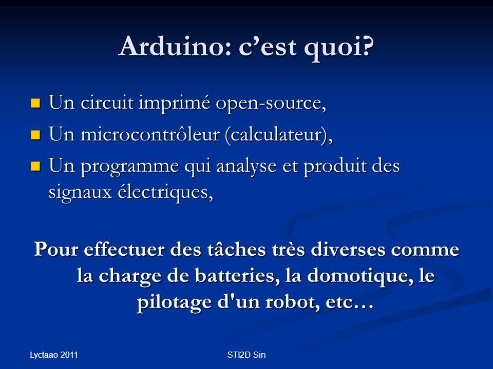 Arduino: cest quoi? Un circuit imprimé open-source, Un circuit imprimé open-source, Un microcontrôleur (calculateur), Un microcontrôleur (calculateur)