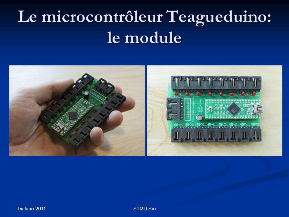 Le microcontrôleur Teagueduino: le module Lyctaao 2011 STI2D Sin