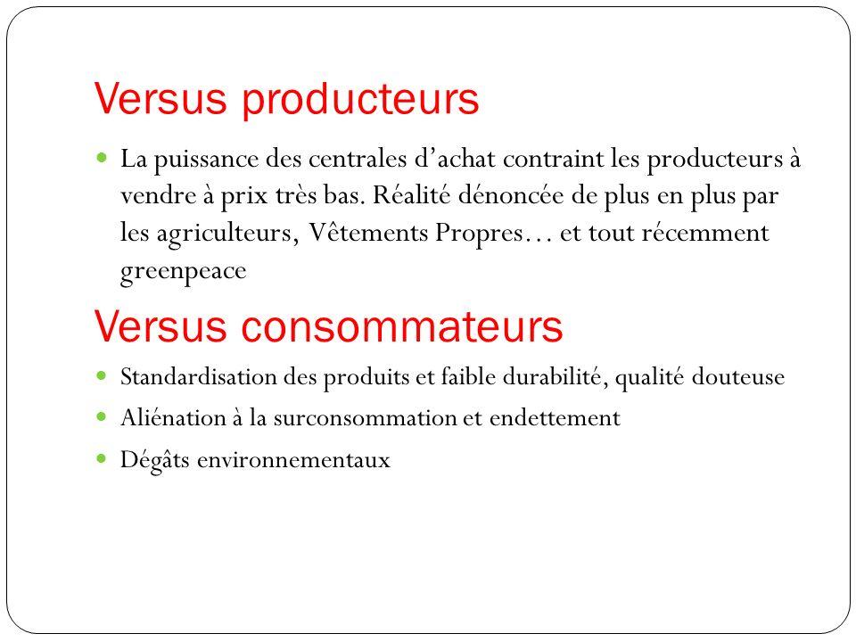 Versus producteurs La puissance des centrales dachat contraint les producteurs à vendre à prix très bas.